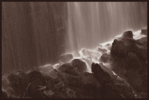 Falling water at Birchville Dam, Upper Hutt 2013